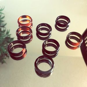 Jewelry - Real Agate Stone Rings! 2/$12 !